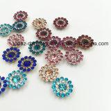 Установка когтя цветка 2017 новая кристаллов оптовой продажи 7mm свободная Swaro прибытия шьет на стеклянных бусинах (сапфир TP-7mm круглый)