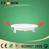 Luz de painel escondida redonda Ultrathin do diodo emissor de luz 9W com Ce/RoHS