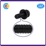 Tornillo galvanizado Zinc/4.8/8.8/10.9 negro de la combinación de la pista de la cacerola Phillips para la maquinaria/la industria