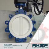 Sitzkonzentrisches Drosselventil der Aksf Marken-PTFE