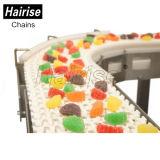 Convoyeur à bande modulaire de boulangerie en plastique de catégorie comestible de Hairise