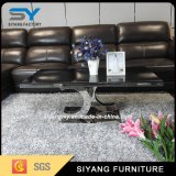ステンレス鋼の家具12のmmのガラス表のガラスコーヒーテーブル