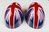 2014新しいモデルの小型たる製造人F56 HardtopのABSプラスチック紫外線保護された英国国旗様式の置換の側面ミラーカバー