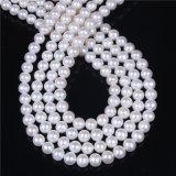 8mm 9mm AAの等級の白い淡水の真珠は繊維を緩める
