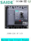 Interruttore modellato intelligente di caso di Sdm6 MCCB