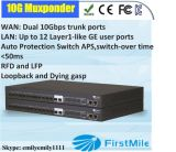12 Ge Muxponder com dois o tronco de 10g SFP+