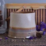 Sostenedor de cerámica de la vela única de la dimensión de una variable con diverso color