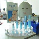 アクリルの装飾的な陳列台、構成のオルガナイザー、Skincareのびんの据え付け品、化粧品のためのカウンタートップの表示