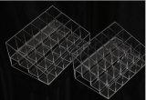 Пластичные ясные устроитель состава держателя 24 губной помады квадратный