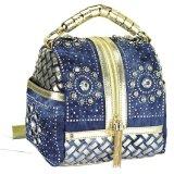 Signora Bag Handbag della donna di modo della nappa del diamante di Demin del Rhinestone