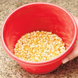 Emmer van de Popcorn van het Silicone van de Popcorn van de Keuken van de Groothandelsprijs DIY Food-Grade Vouwbare