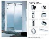 Ensemble de porte coulissante de porte de verre de salle de bain Accessoires de salle de bain