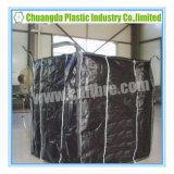 Grande sacchetto di FIBC del contenitore enorme nero di tonnellata con il deflettore all'interno
