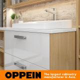 Vanità laminata fissata al muro della stanza da bagno di Oppein con lo specchio (BC17-HPL01)