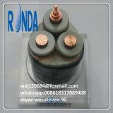 câble électrique de cuivre blindé souterrain de fil d'acier de 8.7KV 15KV