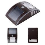 Luz solar fixada na parede do diodo emissor de luz da lâmpada solar impermeável ao ar livre 3PCS da segurança do sensor de movimento do aço inoxidável PIR da iluminação