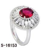 Ruby 방석 커트는 디자인 칵테일 반지의 둘레에 둥글게 된다