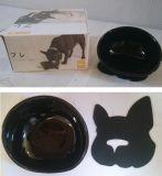 Bacia cerâmica antiderrapante do animal de estimação para o alimento & a água