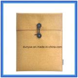 Un bolso promocional determinado de la funda de la computadora portátil del fieltro de las lanas del producto del regalo del OEM con la resistencia de rasgón Du Pont/el embalaje de la bolsa de papel de Tyvek