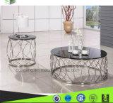 De Eettafel van het Glas van het Ontwerp van de luxe en het Meubilair van Stoelen