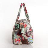 Les configurations florales imperméabilisent le sac à main de dames de palier de toile de PVC (8800)