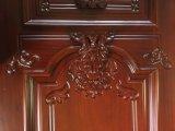 Única porta francesa interior cinzelada clássico da madeira contínua (GSP2-002)