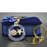 Catena chiave del metallo del metallo su ordinazione promozionale poco costoso massonico dell'anello portachiavi