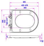 Duroplast Envelopper-Au-dessus de couverture de siège des toilettes d'urée de forme du type D