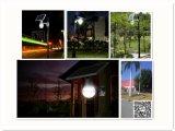 2017 12W lumière solaire de jardin de rue de la lampe extérieure Integrated DEL
