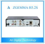 2017 Ontvanger Zgemma H5.2s van de Tuners van de Miauw de Tweeling Satelliet met E2 OS H. 265 Hevc H. 265 Gesteunde Multistream