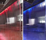 LED 빛을%s 가진 장식적인 스테인리스 물 가을