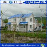 Casa de acero móvil modular prefabricada de lujo del chalet del diseño moderno de China para vivir