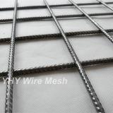 Strato concreto saldato costolato nero dello schermo della rete metallica