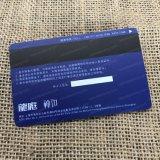 Carte en plastique claire transparente faite sur commande de PVC IC d'impression parfaite