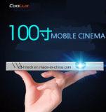 Coolux X6c 인조 인간 시스템을%s 가진 소형 Pico LED 영사기 가정 극장 영사기