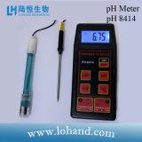 Medidor de pH portátil multifuncional con buena calidad (pH-8414)