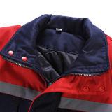 Gilet de sûreté d'homme d'OEM en hiver, gilet épais Pocket multi de coton