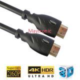 Câble à extrémité élevé de 2.0 HDMI avec l'Ethernet