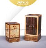 Подгоняно лакирующ коробку подарка деревянного вина MDF твердую
