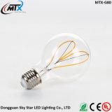 Bulbo do diodo emissor de luz da luz do filamento do desenhador do estilo de G125 grande E27 Edison