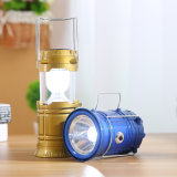 5W Portable Solar Power LED recarregável Tent Light Lantern Lamp