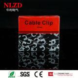 Clips de cable plano plásticos con el clavo