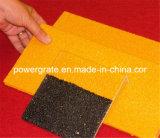 Antidérapage avec les couvertures de flair jaunes de semelle d'escalier de fibre de verre de FRP/GRP