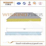 El panel de emparedado de acero de las lanas de roca del color incombustible de la fábrica