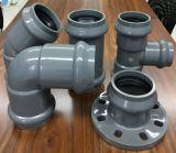 Te regular del grifo de la instalación de tuberías del PVC tres con el anillo de goma