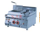 Shuangchiの高品質の低価格のフライヤーのガスのフライヤー2タンク