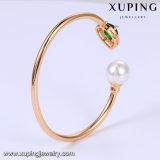 51731 überzogenes CZ Perlen-geöffnetes Armband der Form-18k Gold mit Augen-Riss-Entwurf