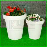 Plastiek Verlichte van de Hoofd decoratie van het Huis van de Pot van de Bloem Planter