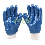 Anti-Corte de Segurança do Trabalho Luva industrial nitrílica Jersey Revestido (D15-Y1)