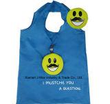 Sac pliable de client, type de face, réutilisable, promotion, sac d'emballage, léger